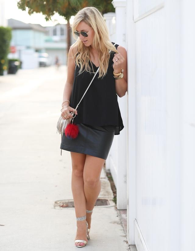 leather skirt, black leather skirt