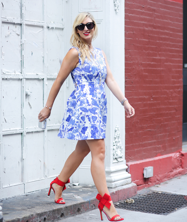 NYC blue dress