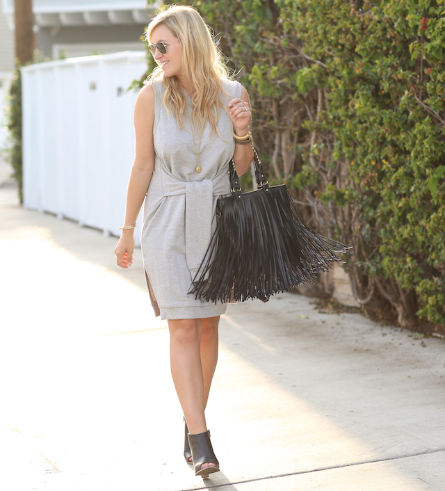 how to wear fringe handbag