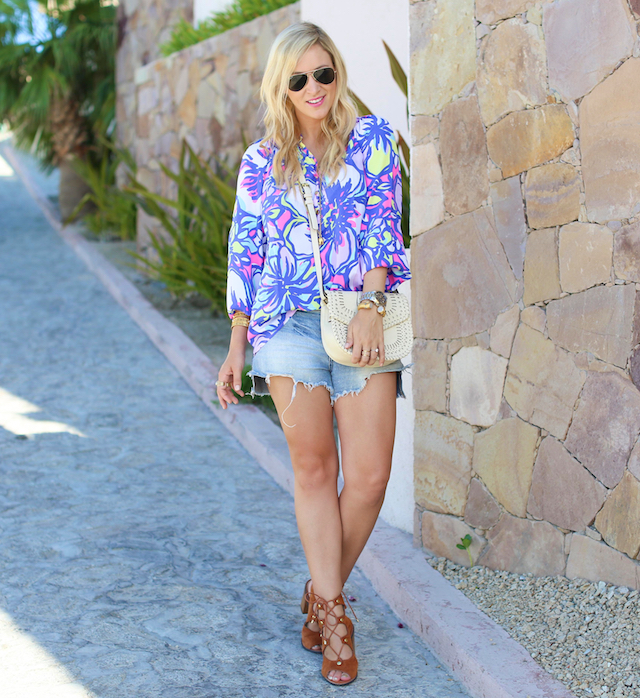 lilly pulitzer top in cabo