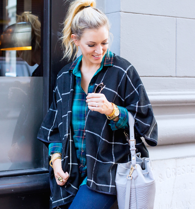 old navy plaid cape