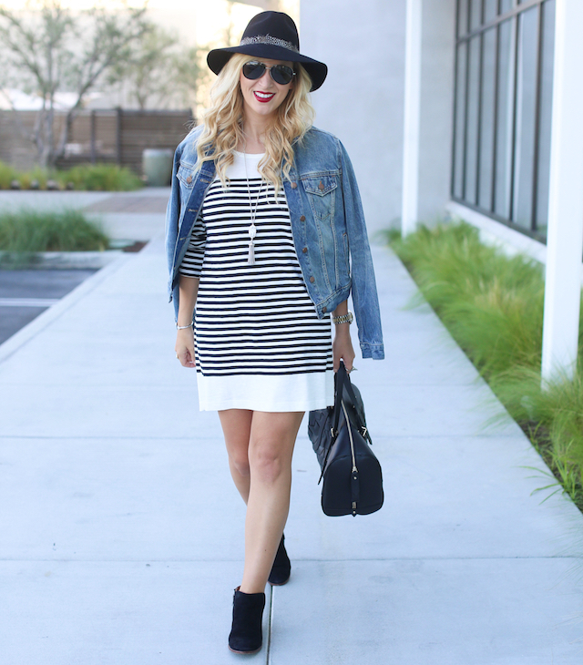 striped joie dress