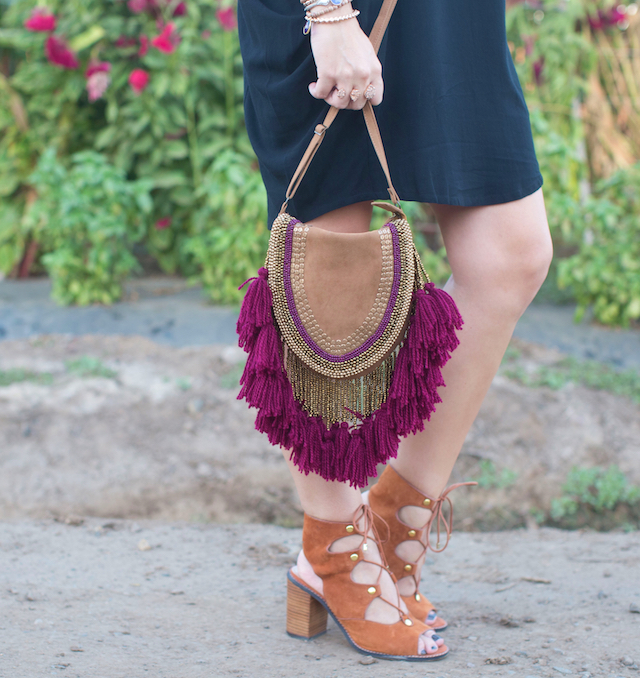 sude fringe bag