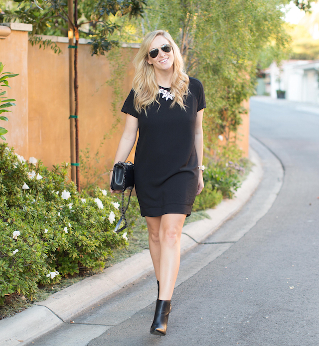 embellished black dress