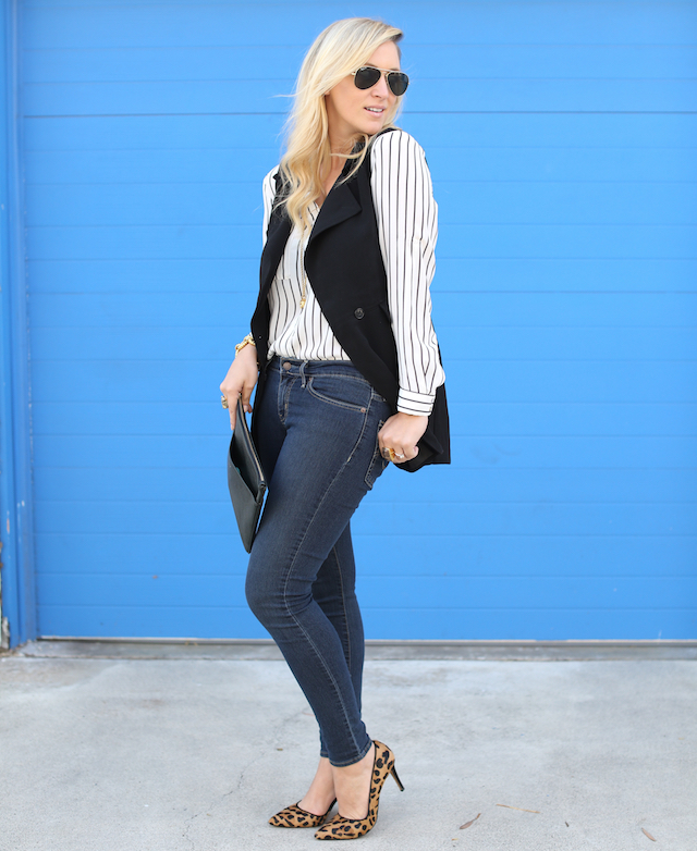 how to wear stripes and leopard