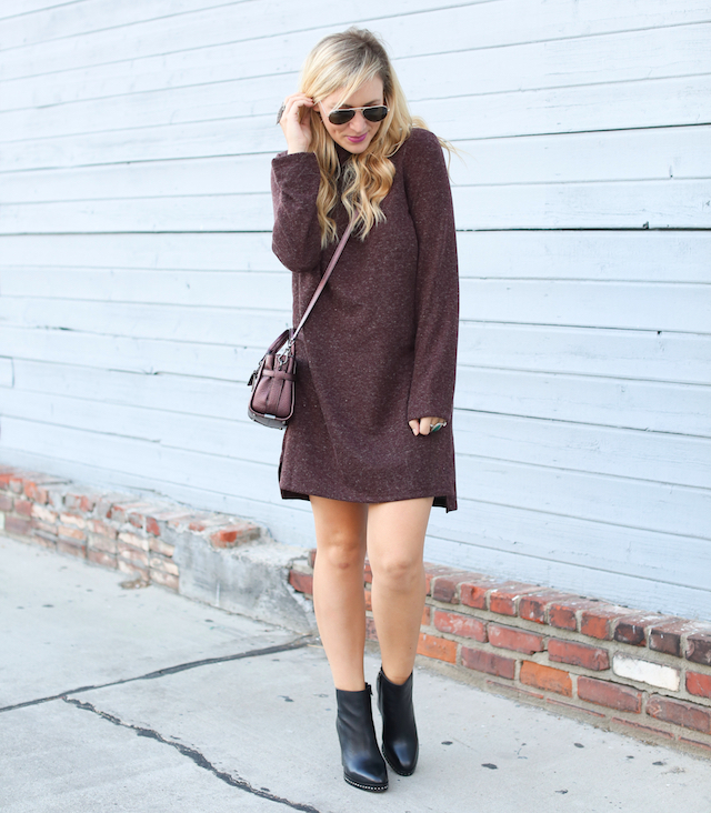 wayf sweater dress