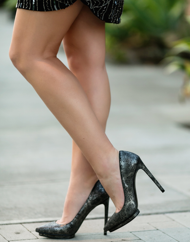 best metallic heels