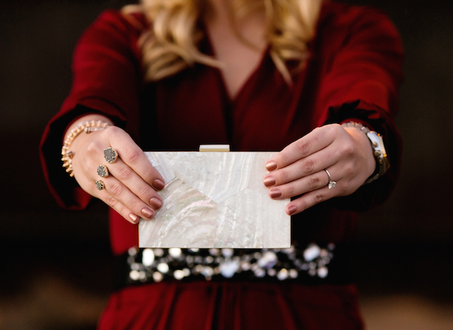 kayu wedding clutch