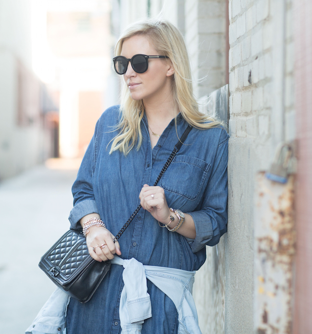 best denim shirtdress