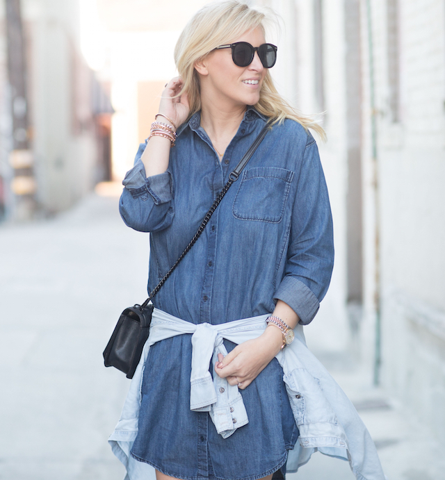 easy denim shirtdress