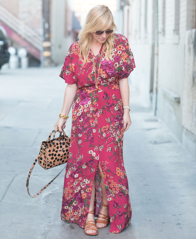 wayf floral dress