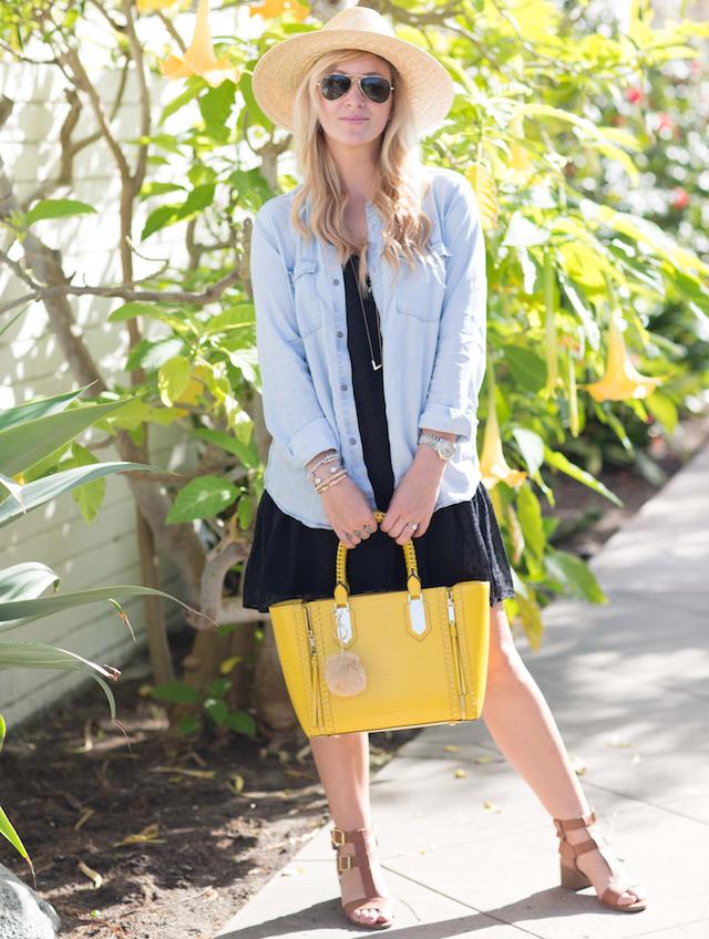 yellow handbag