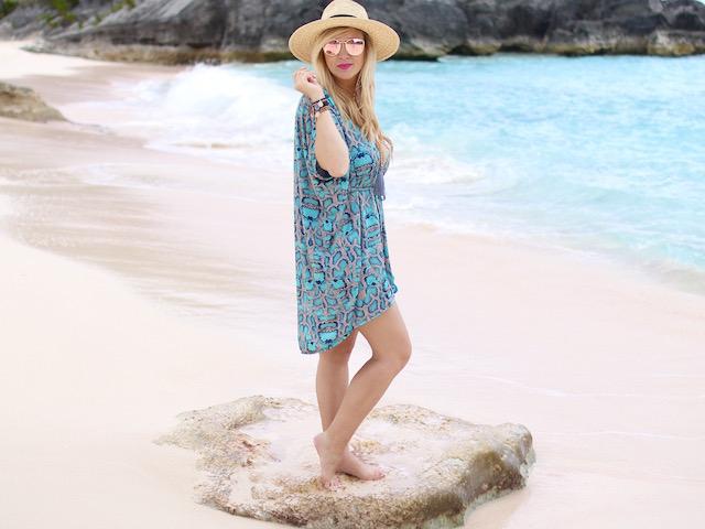 Noelle swimwear coverup, Bermuda
