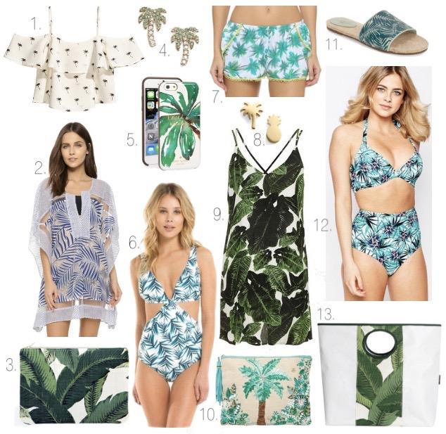 palm prints, banana leaf print, palm print, summer trends