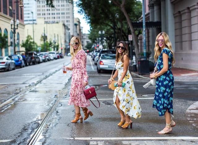 floral dress, midi dress, ace hotel new orleans, floral midi dress