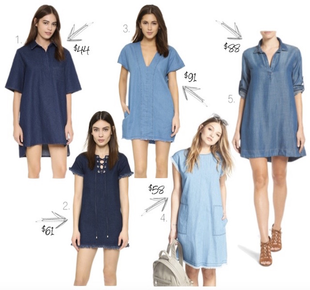 denim dresses under $100 - 1