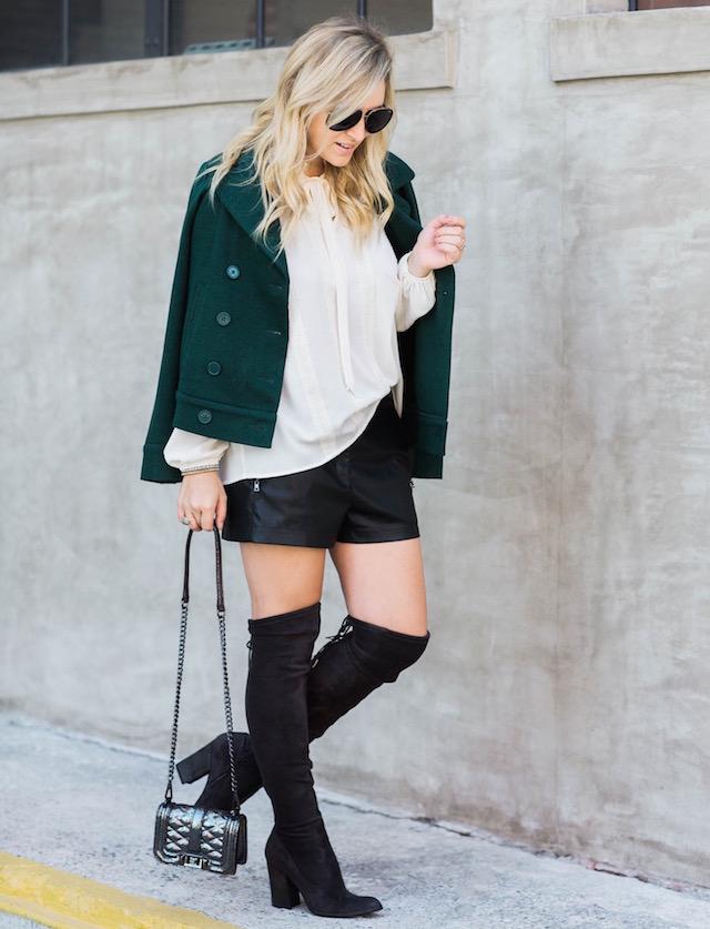 BCBG leather shorts - 1 (1)