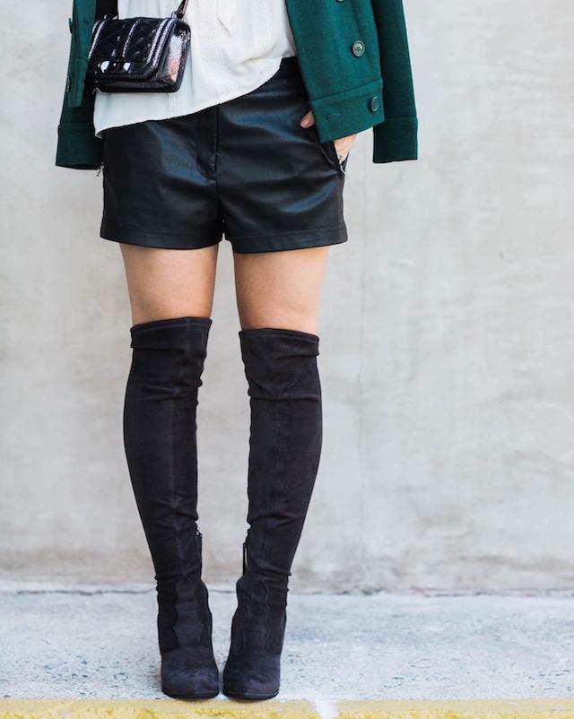 BCBG leather shorts - 1 (2)