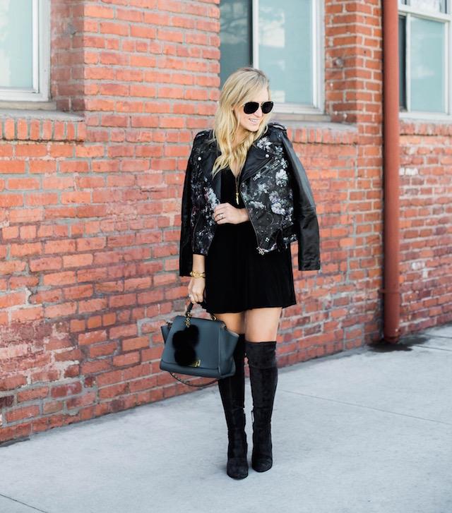 parker leather jacket - 1
