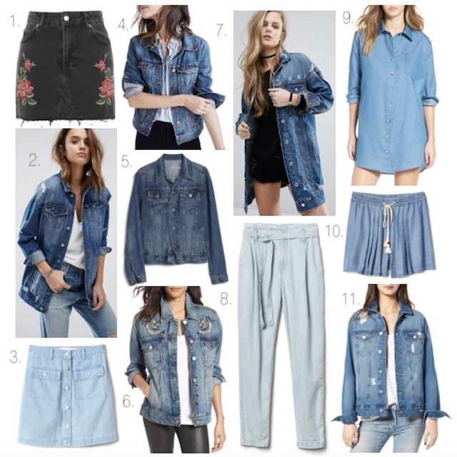 Fashion blogger Nikki Minton Prendergast of My Style Diaries shares favorite spring denim pieces including denim skirts, denim shorts, denim jackets, and a denim shirtdress.