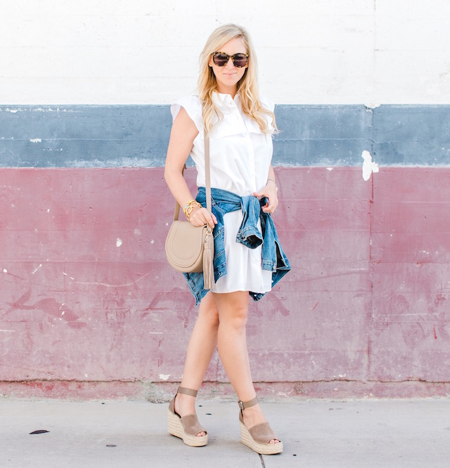 Little white dress from the Who What Wear X Target Style collection.