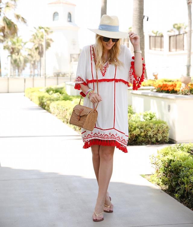 Parker NY fringe dress