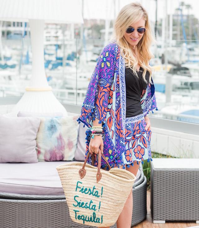Trina Turk kimono and shorts set