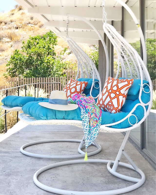 Joss & Main hanging swing chair in Palm Springs