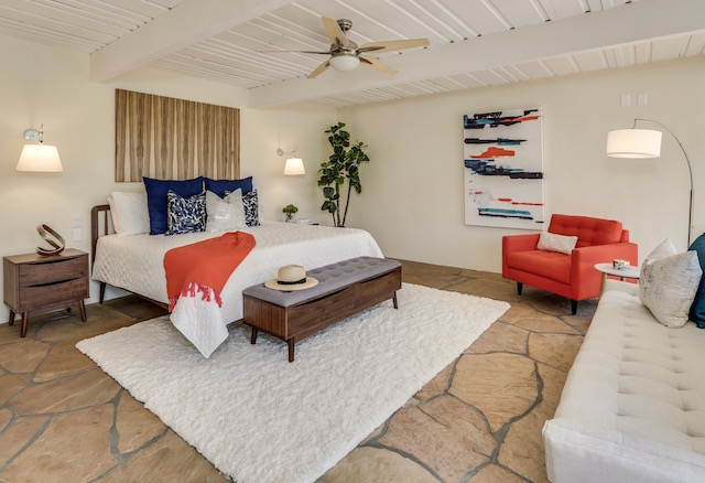Mid-Century Modern Palm Springs bedroom design with Article. furniture