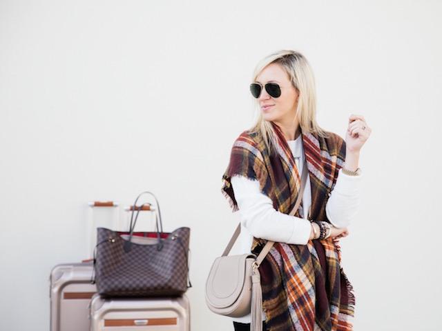 Holiday travel style with Banana Republic, Ricardo Beverly Hills, GiGi New York
