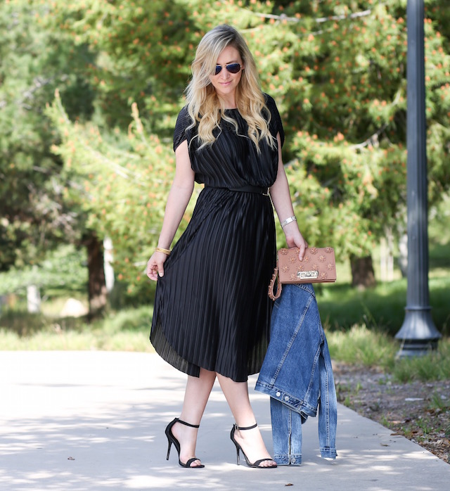 Banana Republic pleated little black dress