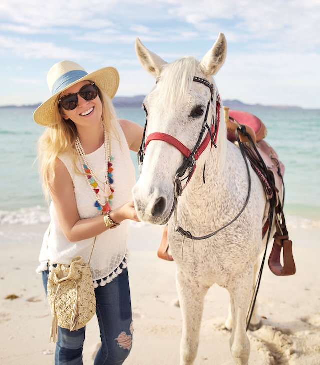 Beach horseback riding at Playa de La Paz
