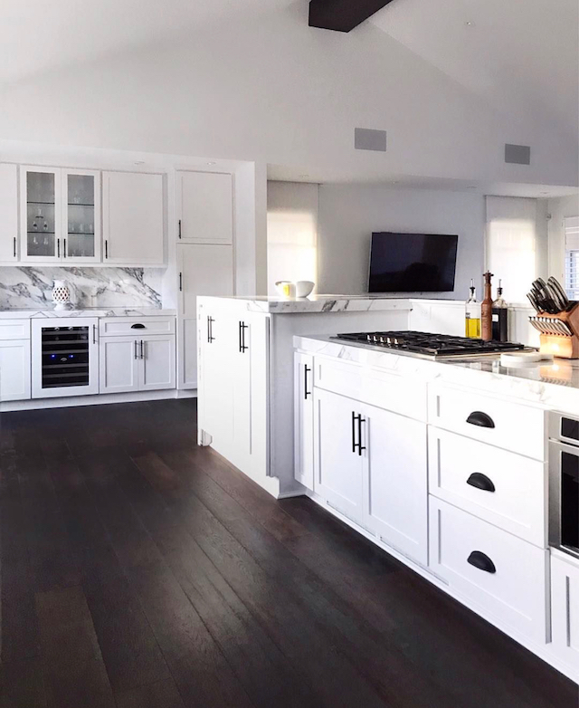 #msdathome White marble countertops with wood floors