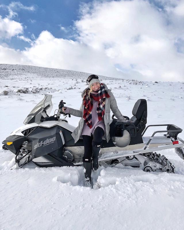 Snowmobiling in Park City, Utah