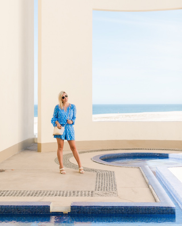 Lilly Pulitzer romper at Pueblo Bonito Pacifica Resort in Cabo | Nikki Prendergast of My Style Diaries