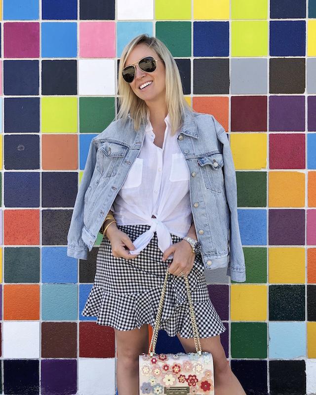My Style Diaries blogger Nikki Prendergast | Mural wall in La Jolla, CA