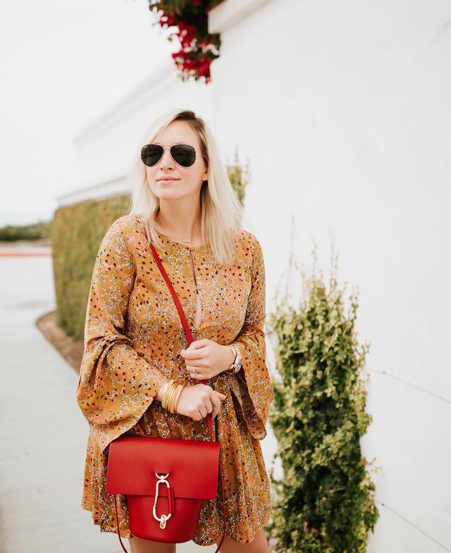 My Style Diaries blogger Nikki Prendergast   Lucca Couture dress, Zac Zac Posen handbag, Marc Fisher wedges, Julie Vos bangles