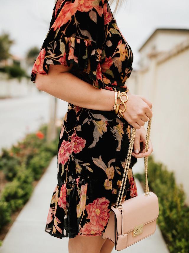 Nikki Prendergast of My Style Diaries | AFRM wrap dress, Rebecca Minkoff heels, Henri Bendel handbag