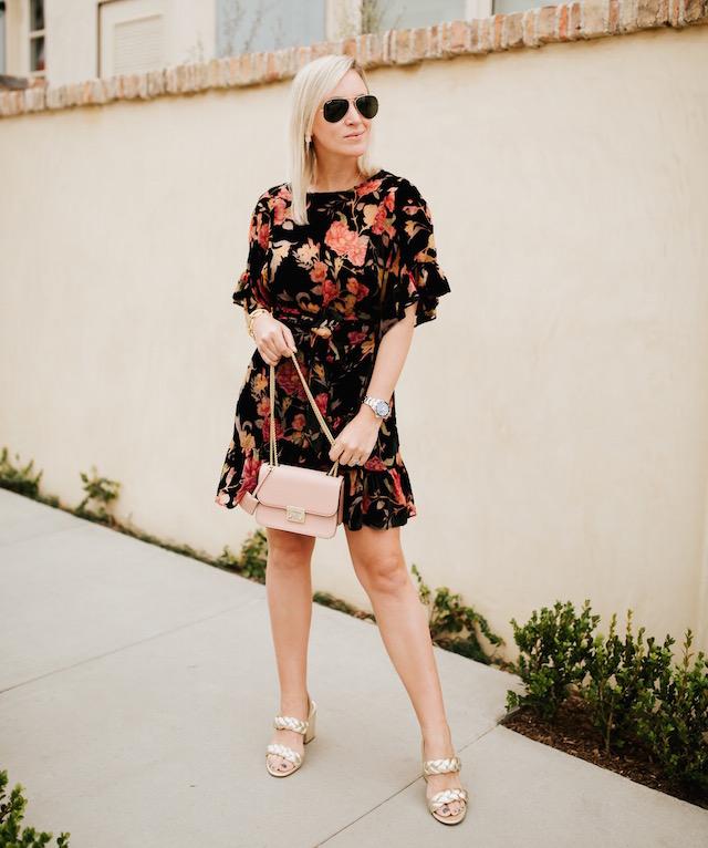 Orange County blogger Nikki Prendergast of My Style Diaries | AFRM wrap dress, Rebecca Minkoff heels, Henri Bendel handbag