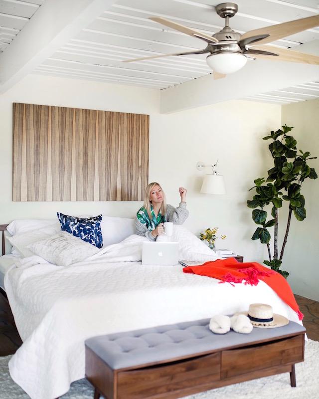 Palm print PJ's in Palm Springs | My Style Diaries blogger Nikki Prendergast
