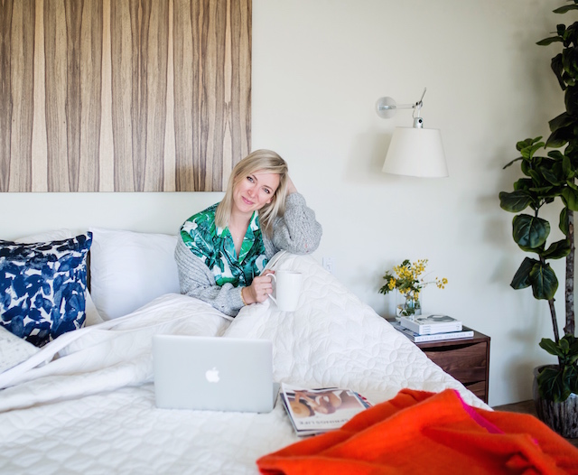 Palm print PJ's in Palm Springs | My Style Diaries blogger Nikki Prendergast