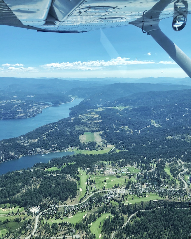 Coeur d'Alene, Idaho from above