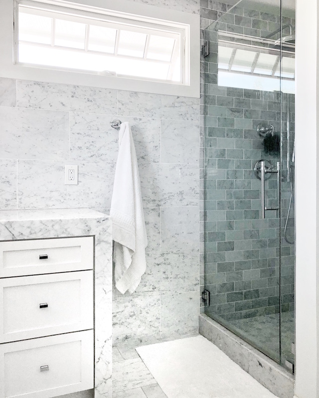 All white master bathroom | My Style Diaries blogger Nikki Prendergast
