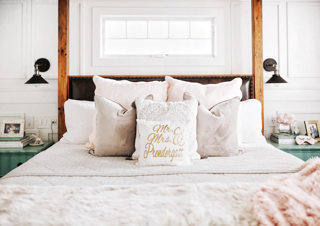 All white master bedroom | My Style Diaries blogger Nikki Prendergast