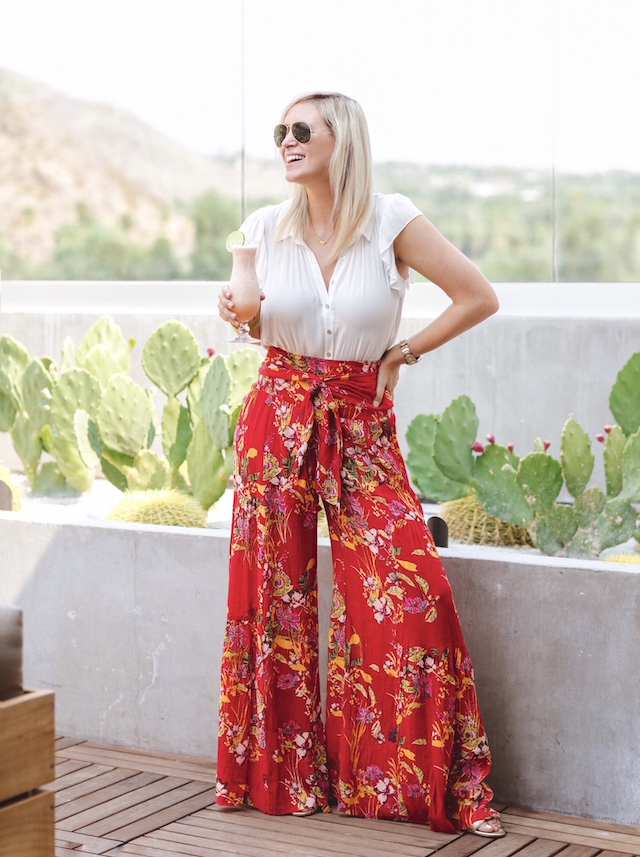 Best wide leg pants for summer | My Style Diaries blogger Nikki Prendergast at the Rowan Palm Springs