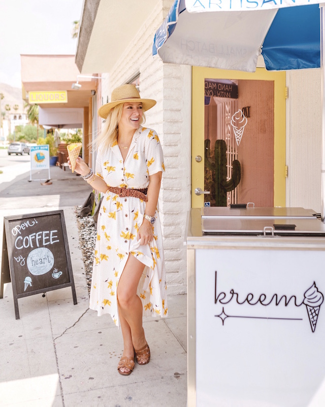 Vintage vibes at Kreem in Palm Springs | My Style Diaries blogger Nikki Prendergast
