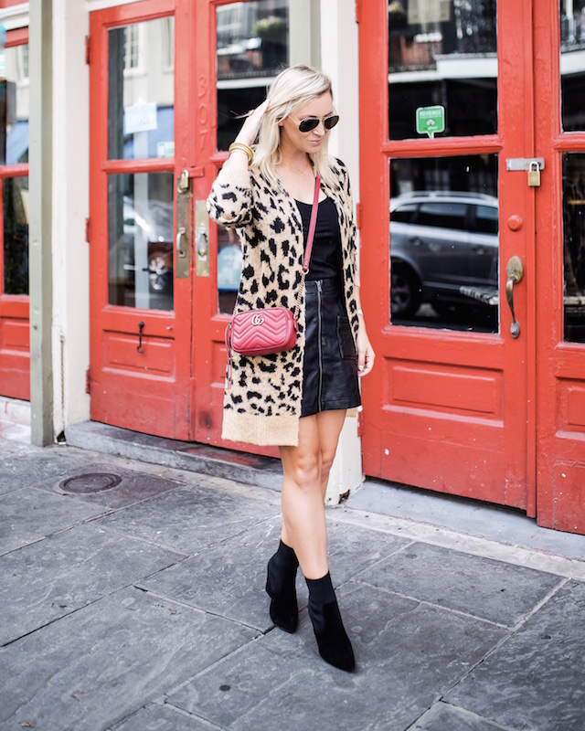 Leopard cardigan for fall | My Style Diaries blogger Nikki Prendergast in New Orleans