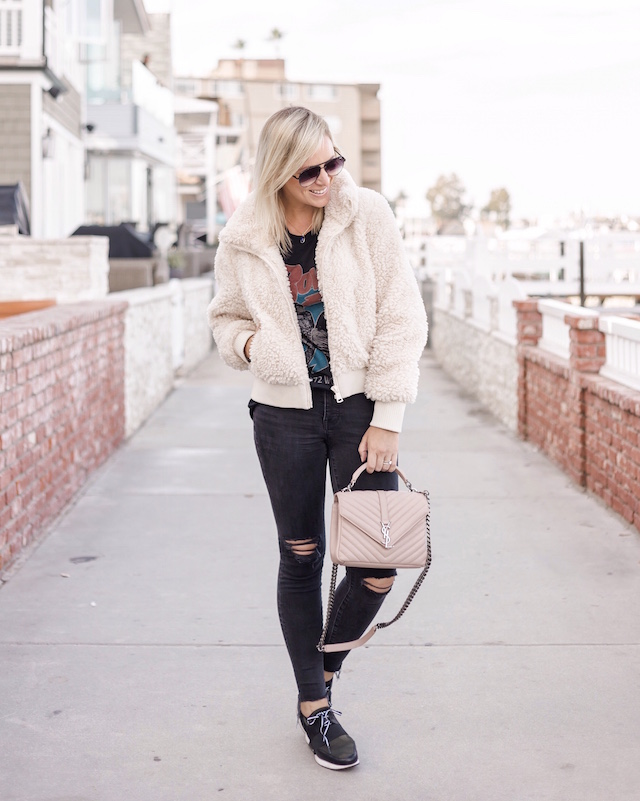 David Bowie graphic tee, Madewell jeans, Steve Madden sneakers | My Style Diaries blogger Nikki Prendergast