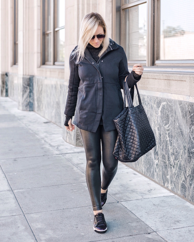 All Black Athleisure ft. Spanx, Hurley, MZ Wallace | My Style Diaries blogger Nikki Prendergast